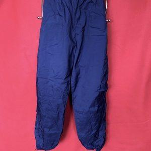 Men's Nike lined wind pants. A443. L. navy blue